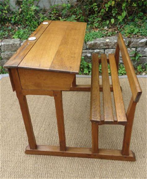 bureau ecolier bois ancien bureau ecolier bois deux places avec encriers en