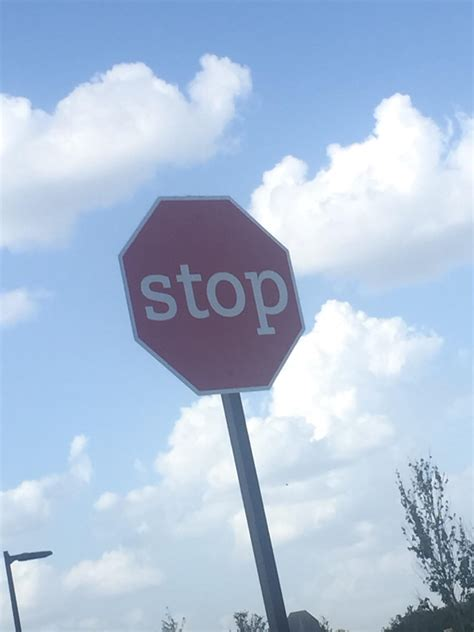 stop sign this lower stop sign rebrn
