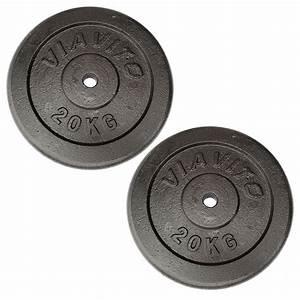 Viavito Cast Iron Standard Weight Plates