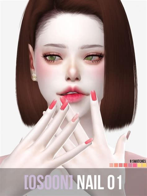 Nails 01 at Osoon » Sims 4 Updates