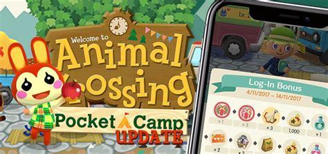 animal crossing pocket camp login bonus mypotatogames