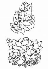 Coloring Flower Pages Valley Lily Drawing Roses Flowers Rose Lilies Drawings Sketch Bud Preschool Getdrawings Bouquets Buttercups Template sketch template