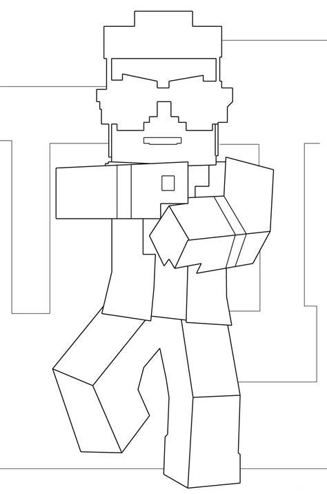 sta e colora minecraft minecraft da colorare disegni da colorare