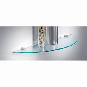 Etagere Murale En Verre : tablette murale en verre tremp avec d coupe arrondie sur ~ Dode.kayakingforconservation.com Idées de Décoration
