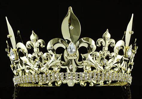 Men's Imperial Medieval Fleur De Lis Gold King Crown ...