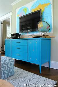 painted mid century furniture updates any home With what kind of paint to use on kitchen cabinets for wall art map of usa