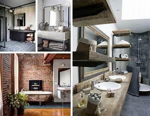 salle de bain industrielle inspirationle blog deco de With salle de bain loft industriel