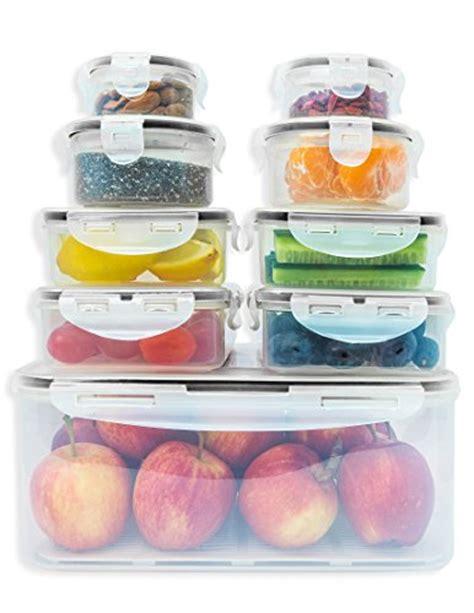 plastic lid organizer kitchen 9 x premium food storage containers set snap lock lids 4275
