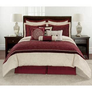 10 piece comforter set red