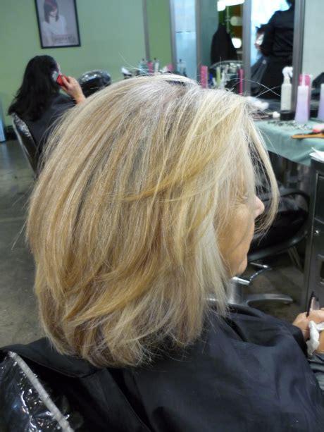 hairstyle lookbook gray blending