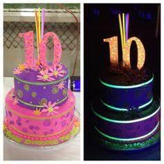 Glow in the Dark Birthday Cake 8