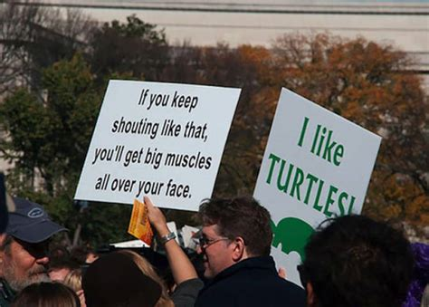 funniest protest signs  barnorama