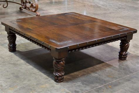 indonesia spanish carved coffee table cuadrada demejico