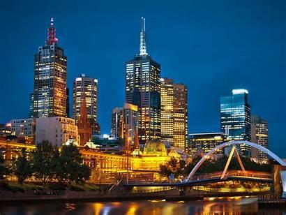 Melbourne Australia Night Cities Travel