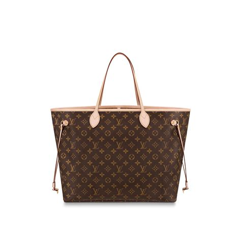 neverfull gm monogram  brown handbags  louis vuitton