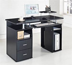 computer desk pc table home office furniture black white With home computer desks for newbie