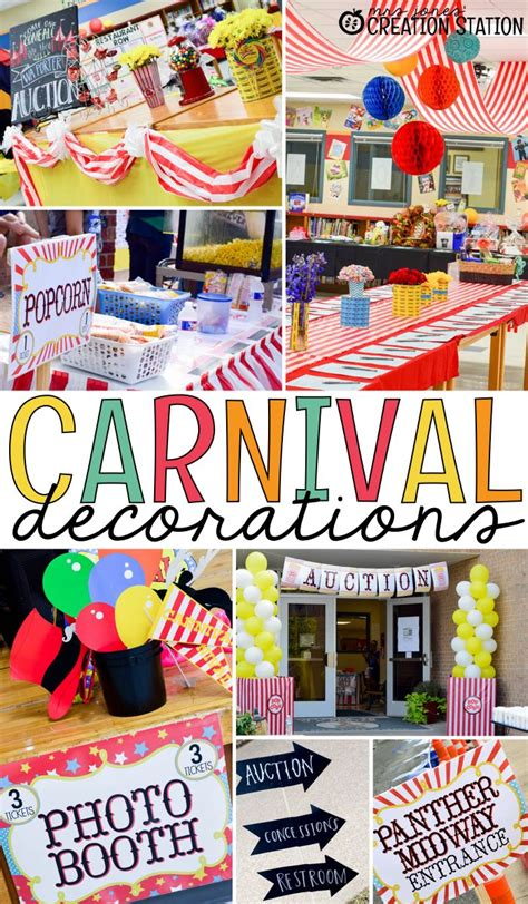 circus decorations ideas  pinterest carnival