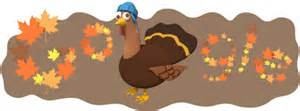 thanksgiving day logo serves up an animated turkey for the