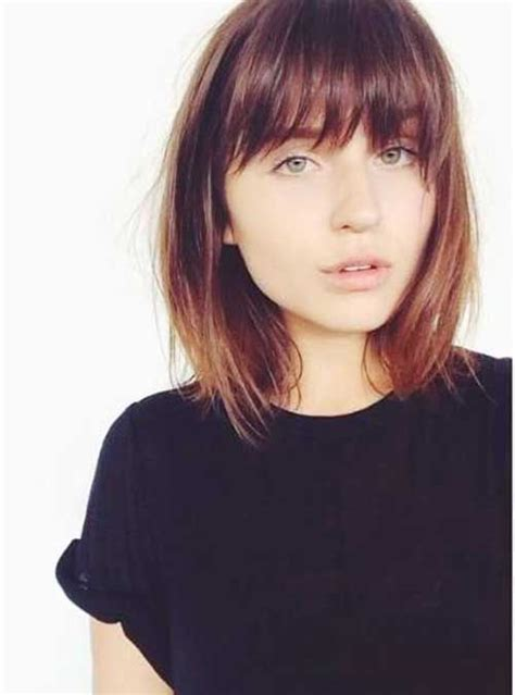 Bob Hairstyle With Side Fringe by Hairstyles 50 Best Bob Hairstyles With Bangs 50 Best Bob