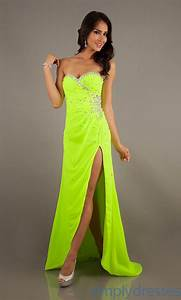 Neon yellow prom dress | cute outfits | Pinterest | Neon Prom dresses and The ou0026#39;jays