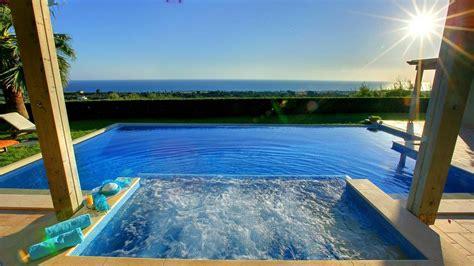 jacuzzi villa  sea view hd desktop wallpaper