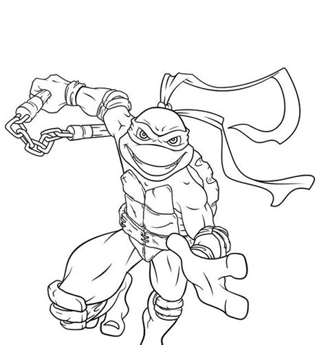 Ninja Turtle Coloring Pages For Toddlers Coloring Pages