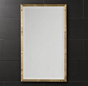 design trend brass and glass With brass framed medicine cabinet