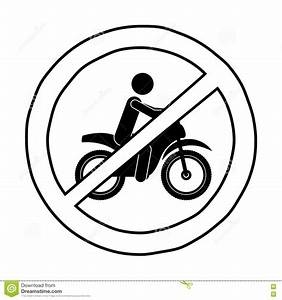Isolated Motorcycle Road Sign Design Stock Vector