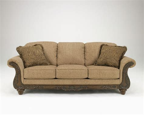 419 99 beautiful sofa with wood trim living rooms