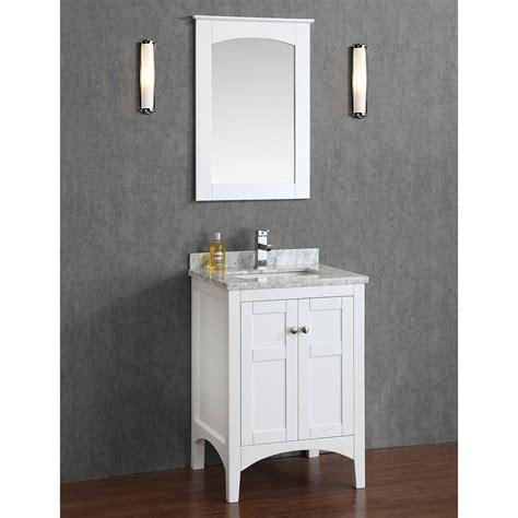 """Buy Martin 24"""" Solid Wood Single Bathroom Vanity In White"""