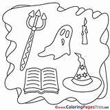 Pitchfork Halloween Coloring Ausmalbilder Umsonst Ghost Malvorlagen Affefreund Template sketch template