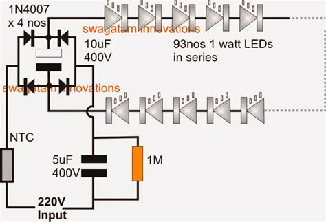 simplest 100 watt led bulb circuit circuit projects