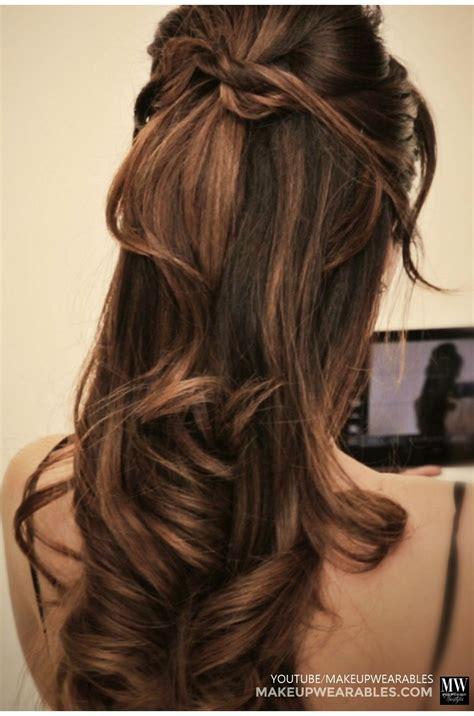 Half Updo Hairstyles Tutorial by Hiden Twist Half Updo Tutorial Hairstyle Hair Tutorial