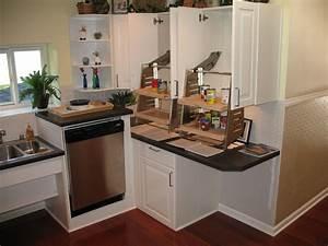 Lave Vaisselle Pose Libre Sous Plan De Travail : am nagement d 39 une cuisine lave vaisselle sur lev espace de travail de diff rentes hauteur ~ Melissatoandfro.com Idées de Décoration