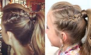 Cute Girls Hairstyles French Braid Ponytail