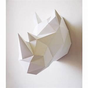 Trophée Animaux Origami : troph e origami animaux rhinoc ros for home pinterest paper crafts origami et paper ~ Teatrodelosmanantiales.com Idées de Décoration