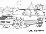 Ford Coloring Pages Expedition Printable Cool Drawing Cars Ecolorings Info Getdrawings sketch template