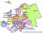 Maps: Map Of Europe Labeled With Countries
