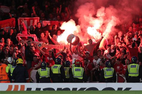 arsenal  cologne crowd trouble gunners release