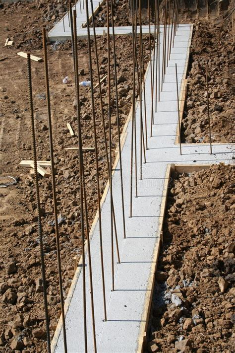 Basement Wall Footing With Deadman Stock Image  Image Of