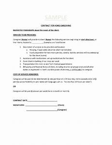 Sample client service contract forms and templates fillable forms samples for pdf word for Sample caregiver contract
