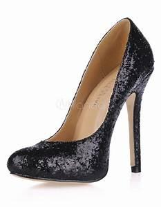 Schuhschrank Für High Heels : schwarze high heels mit pailletten f r damen ~ Bigdaddyawards.com Haus und Dekorationen