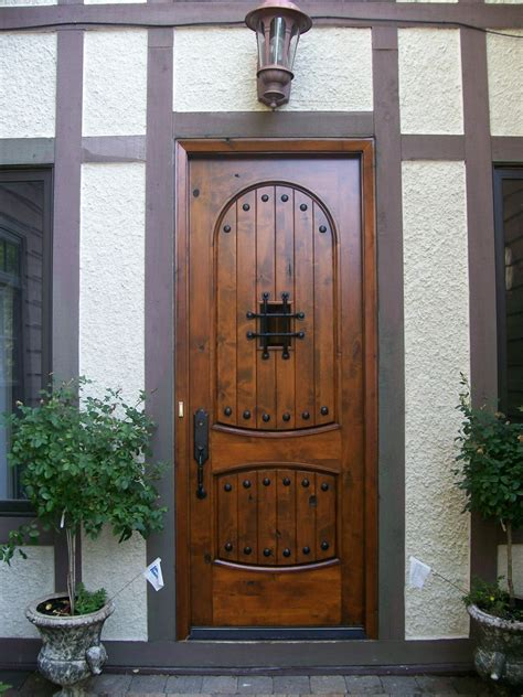 Wood Entry Doors Applied For Home Exterior Design  Traba
