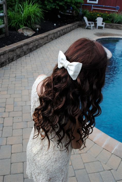 Red Brown Hair Color Red Hair Curls Bow Long Hair Don
