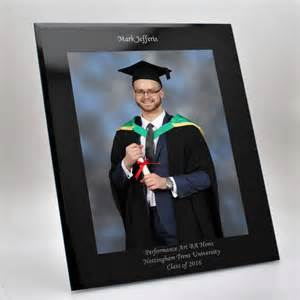 wedding gifts for groom black glass graduation photo frame 10x8
