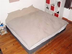 Lit King Size 200x200 : lit king size karkace ~ Teatrodelosmanantiales.com Idées de Décoration