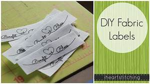 Diy fabric labels youtube for How to sew labels on clothes