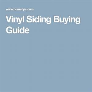 Vinyl Siding Buying Guide