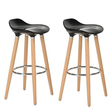 tabouret chaise de bar furniturer lot de 2 tabourets de bar cuisine scandinaves