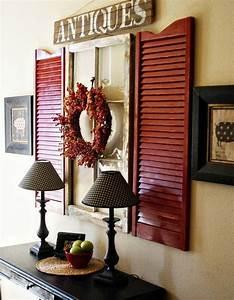 Deco Murale Vintage : volets en bois vintage comme d co murale originale ~ Melissatoandfro.com Idées de Décoration